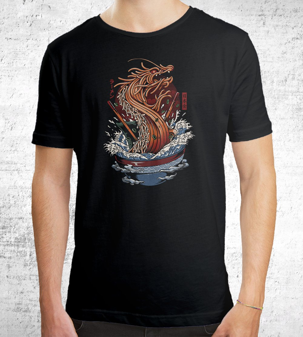 Dragon Ramen T-Shirts by Ilustrata - Pixel Empire