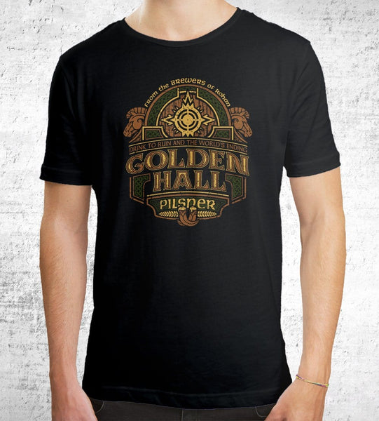 Golden Hall Pilsner Men's Shirt by Cory Freeman Design - Pixel Empire