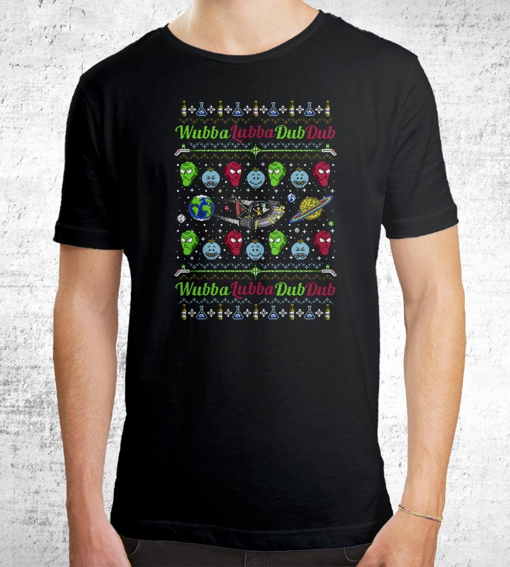 A Wubba Lubba X-Mas T-Shirts by Punksthetic - Pixel Empire