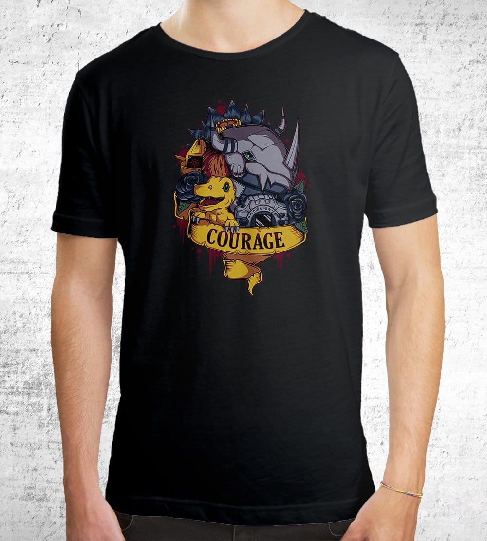 Courage Power T-Shirts by Typhoonic - Pixel Empire