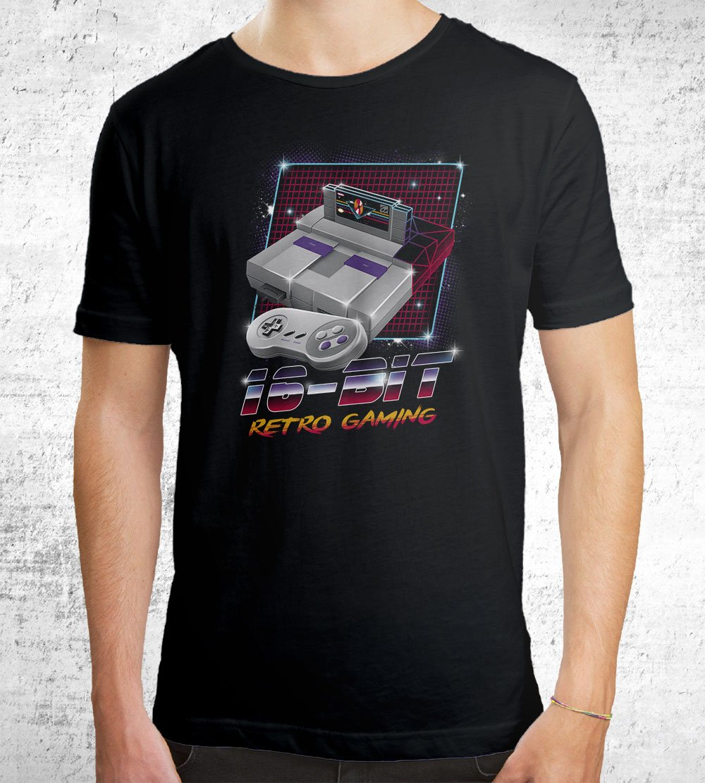 16-Bit Retro Gaming T-Shirts by Vincent Trinidad - Pixel Empire