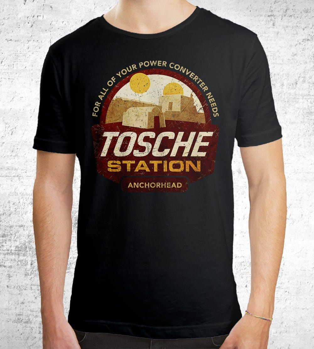 Tosche Station T-Shirts by Cory Freeman Design - Pixel Empire