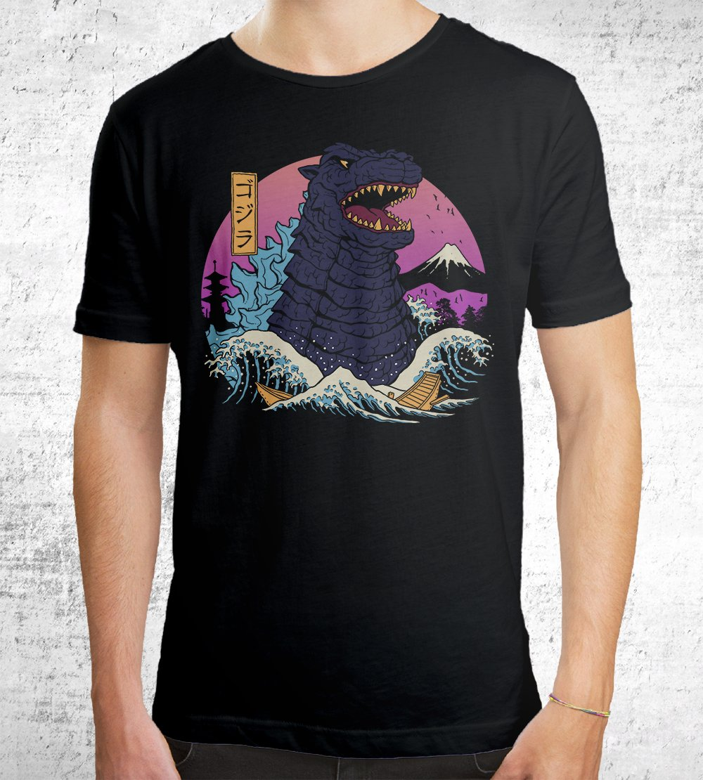 Rad Zilla Wave T-Shirts by Vincent Trinidad - Pixel Empire