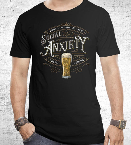 Social Anxiety Men's Shirt by Barrett Biggers - Pixel Empire