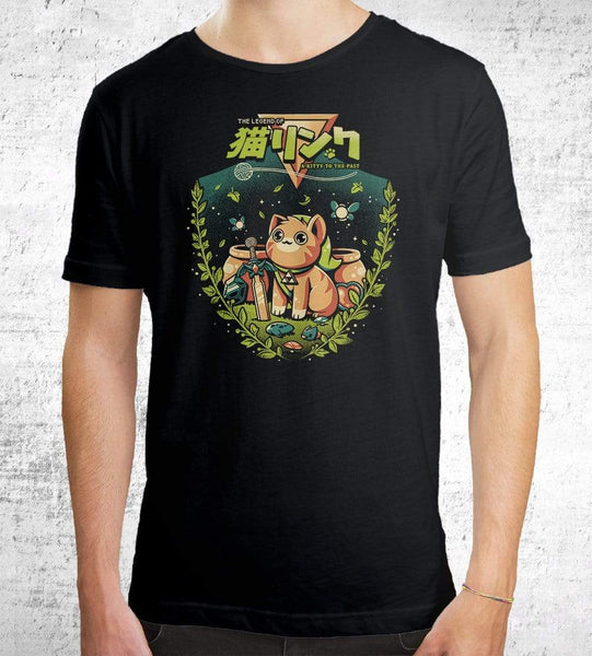 A Kitty To The Past Men's Shirt by Ilustrata - Pixel Empire