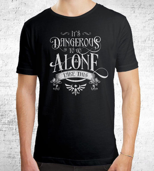 Dangerous to Go Alone T-Shirts by Barrett Biggers - Pixel Empire