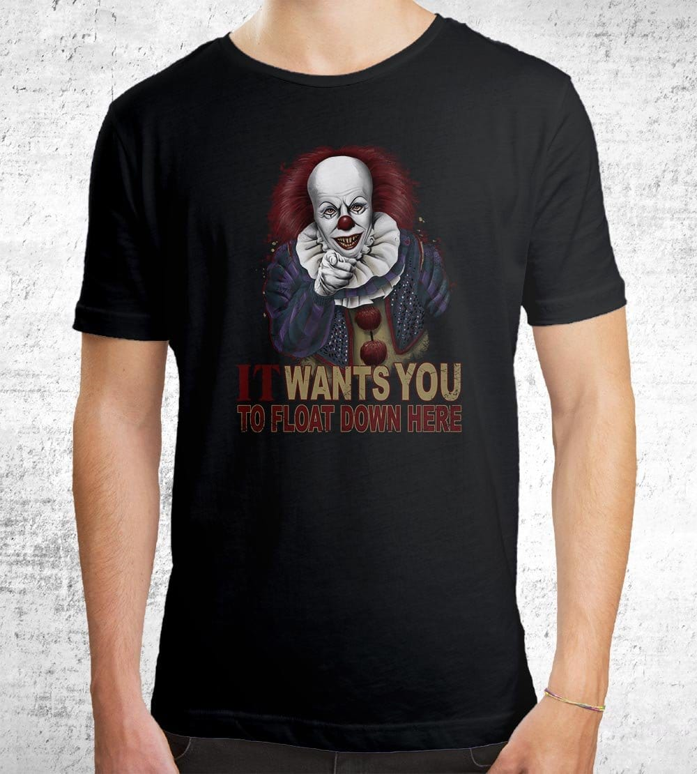 Float Down Here T-Shirts by Saqman - Pixel Empire