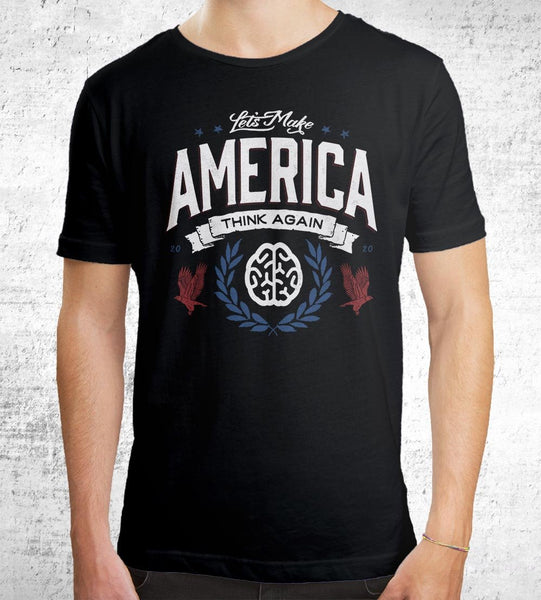 Let's Make America Think Again Men's Shirt by Barrett Biggers - Pixel Empire