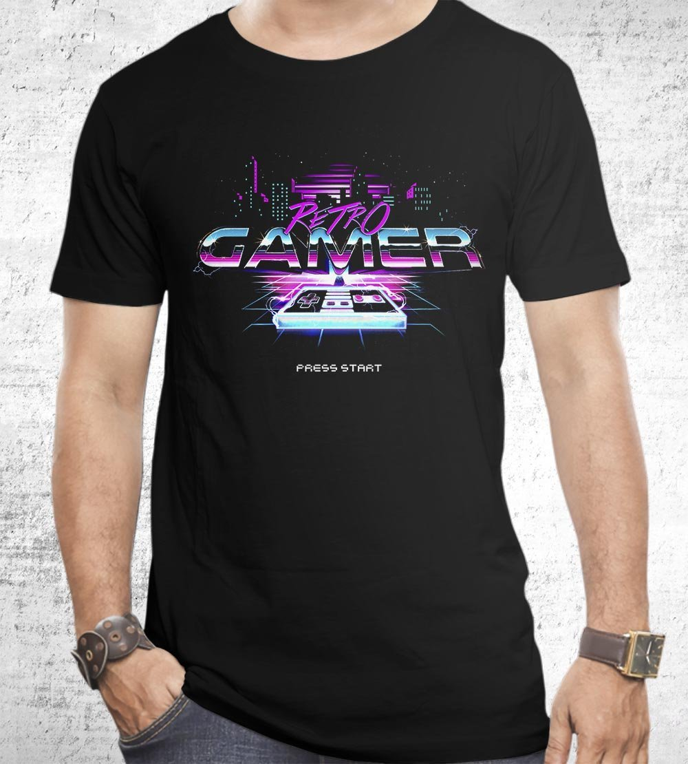 Retro Gamer T-Shirts by Barrett Biggers - Pixel Empire