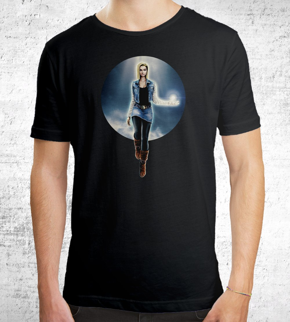 Android 18 T-Shirts by Barrett Biggers - Pixel Empire