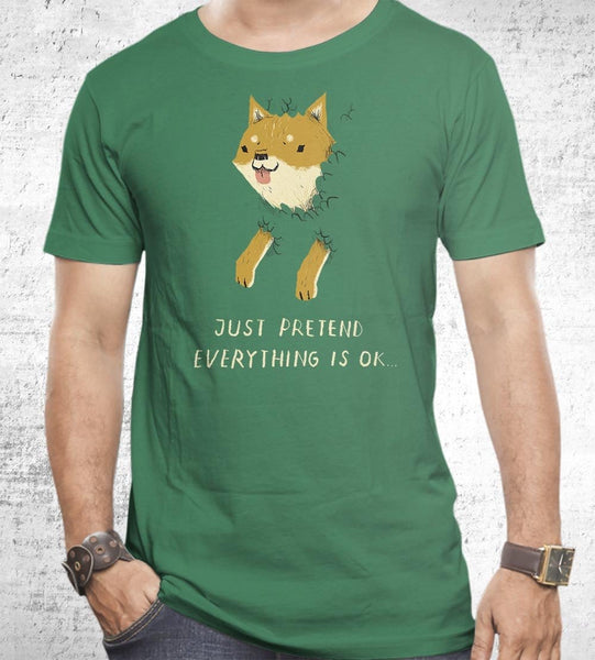Bush Shiba Men's Shirt by Louis Roskosch - Pixel Empire