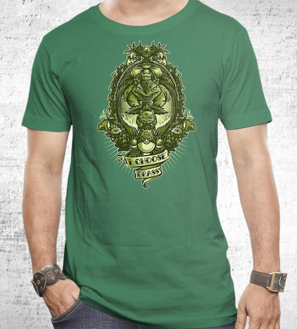 I Choose Grass T-Shirts by Juan Manuel Orozco - Pixel Empire