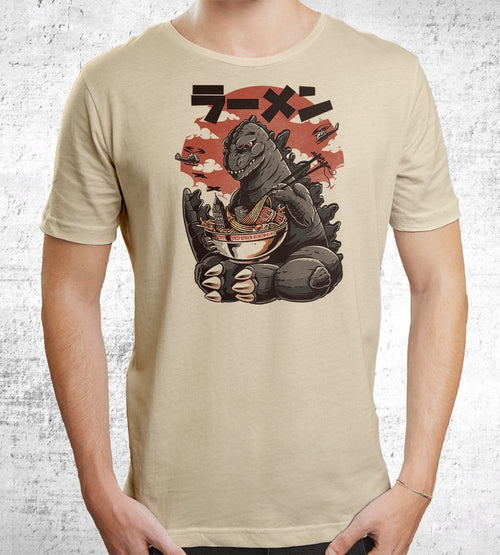 Kaijus Ramen T-Shirts by Ilustrata - Pixel Empire