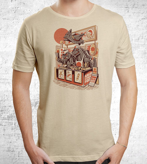 Kaiju's Street Food T-Shirts by Ilustrata - Pixel Empire