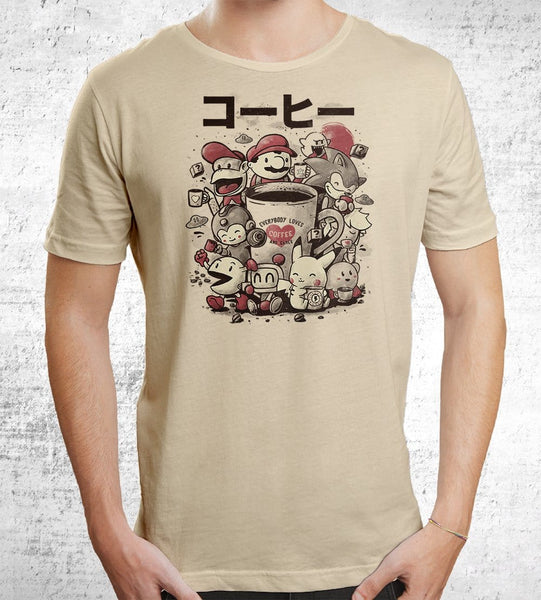 Coffee And Games Men's Shirt by Eduardo Ely - Pixel Empire