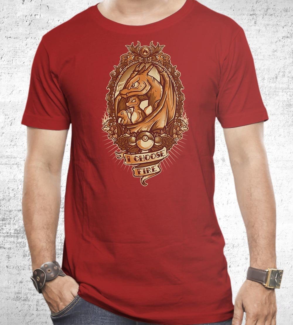 I Choose Fire T-Shirts by Juan Manuel Orozco - Pixel Empire