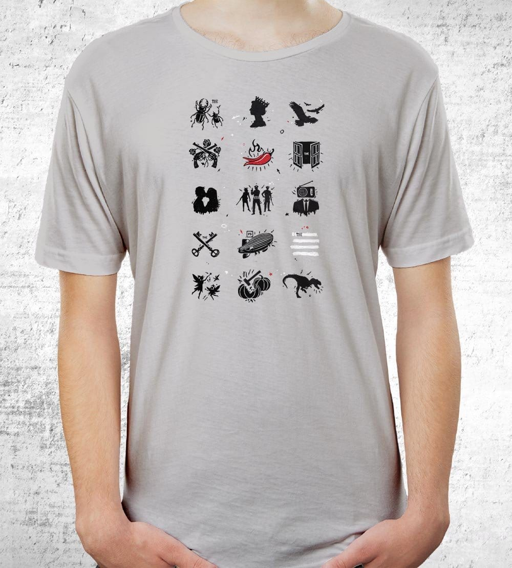 Rock N Roll Pictionary T-Shirts by Grant Shepley - Pixel Empire