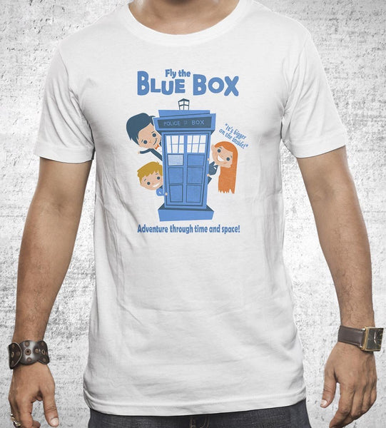 Fly the Blue Box Men's Shirt by Anna-Maria Jung - Pixel Empire