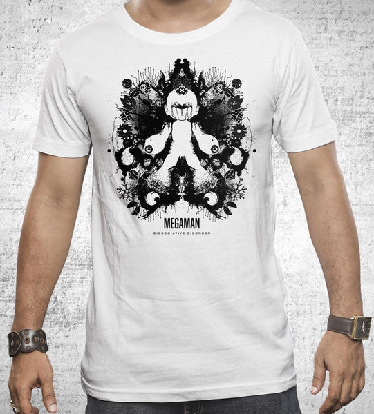 Megaman Ink Blot Men's Shirt by Barrett Biggers - Pixel Empire