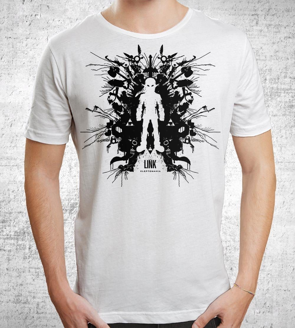 Link Ink Blot T-Shirts by Barrett Biggers - Pixel Empire