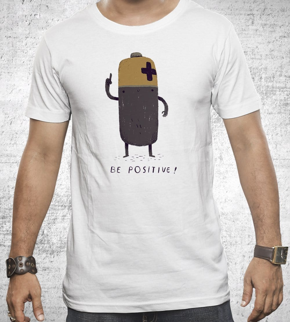 Be Positive T-Shirts by Louis Roskosch - Pixel Empire