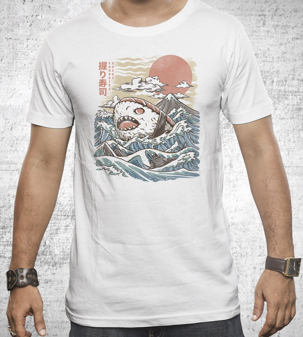Sharkiri Sushi T-Shirts by Ilustrata - Pixel Empire