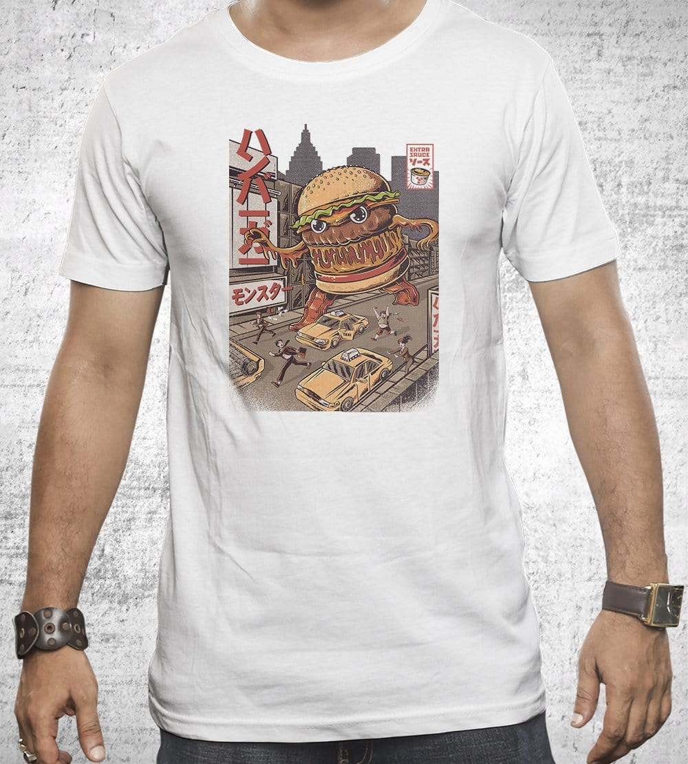 Burgerzilla T-Shirts by Ilustrata - Pixel Empire