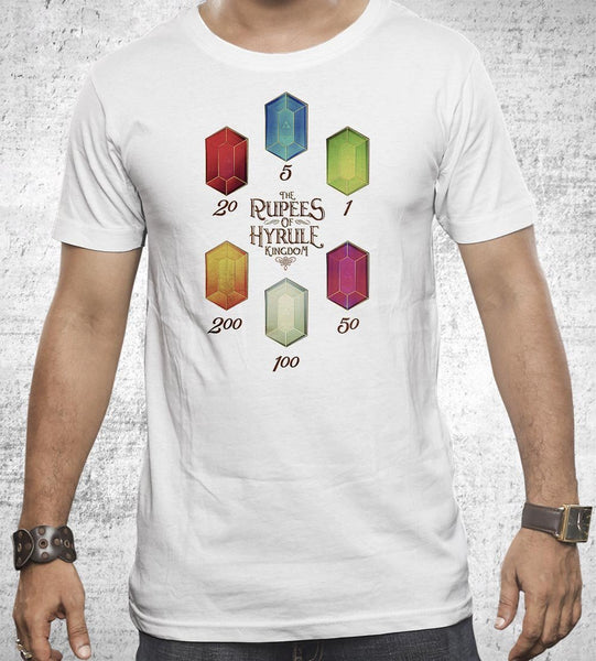 Rupees of Hyrule Men's Shirt by Barrett Biggers - Pixel Empire