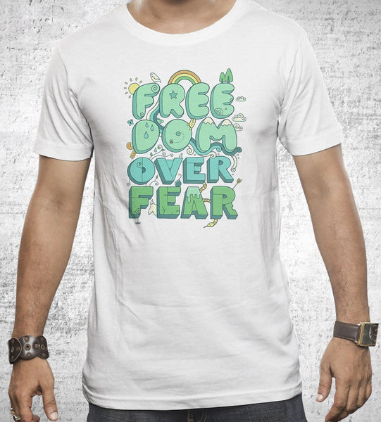 Freedom Over Fear Men's Shirt by Rick Crane - Pixel Empire