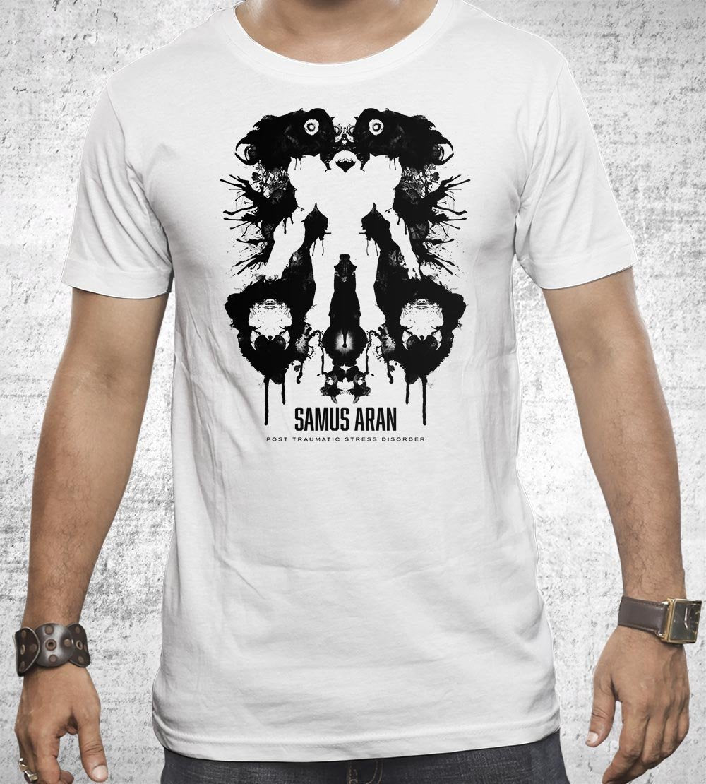 Samus Aran Ink Blot T-Shirts by Barrett Biggers - Pixel Empire