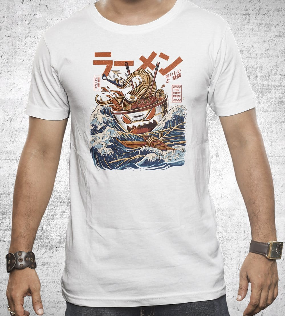 Great Ramen Off Kanagawa T-Shirts by Ilustrata - Pixel Empire
