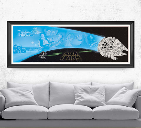 Star Wars - Millennium Falcon Posters- The Pixel Empire