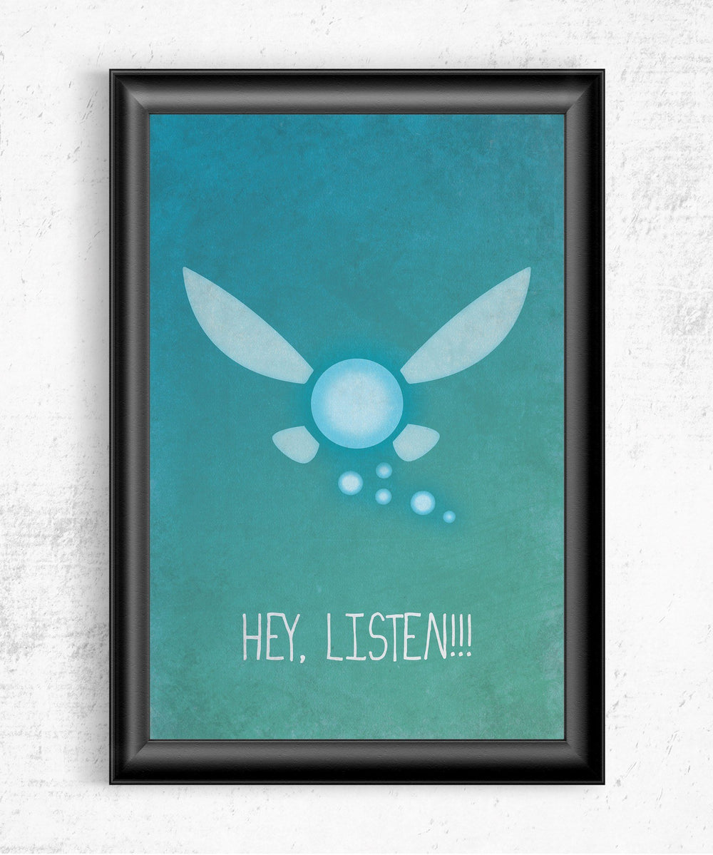 Hey Listen! Posters by Dylan West - Pixel Empire