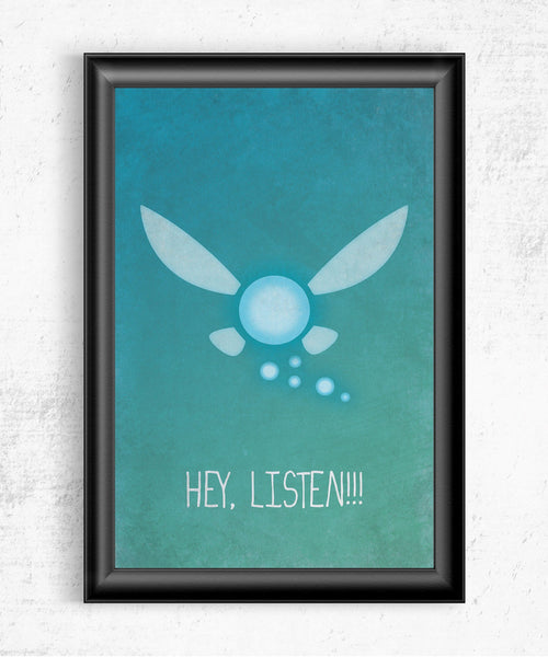Hey Listen! Posters by The Pixel Empire - Pixel Empire