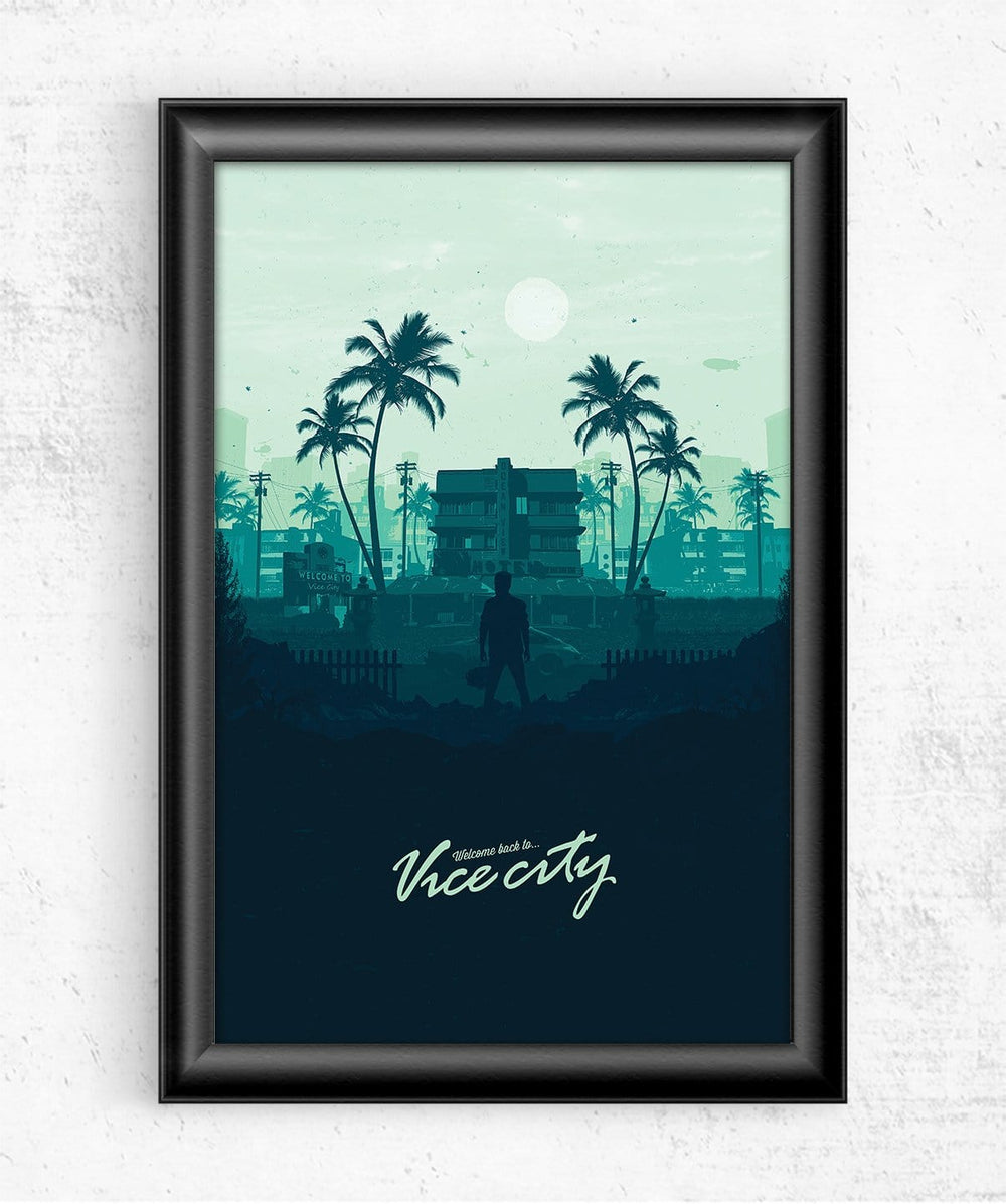Welcome to Vice City Posters by Mbdsgns - Pixel Empire