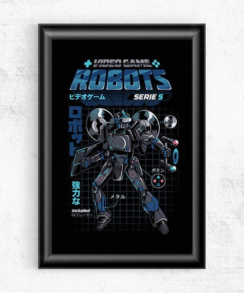Video Game Robot - Model S Posters by Ilustrata - Pixel Empire