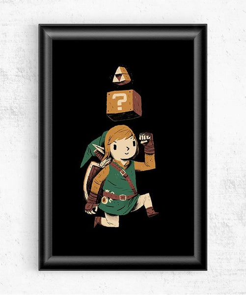 Triforce Power Up Posters by Louis Roskosch - Pixel Empire