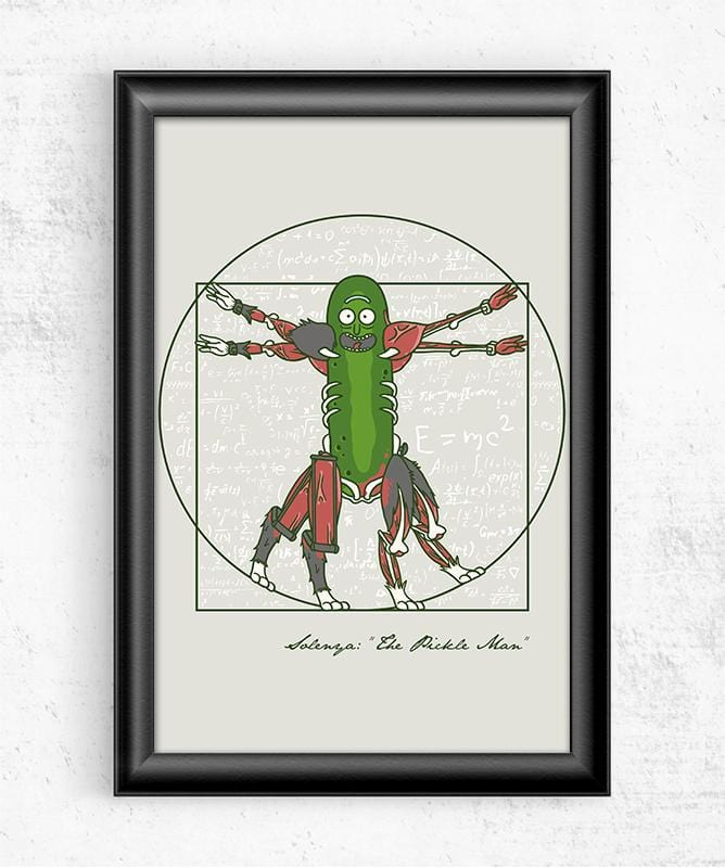 Vitruvian Pickle Man Posters by COD Designs - Pixel Empire