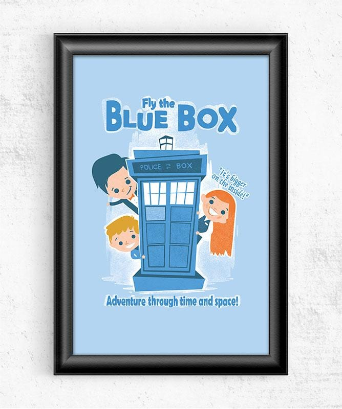 Fly the Blue Box Posters by Anna-Maria Jung - Pixel Empire