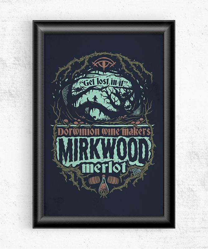 Mirkwood Merlot Posters by Cory Freeman Design - Pixel Empire