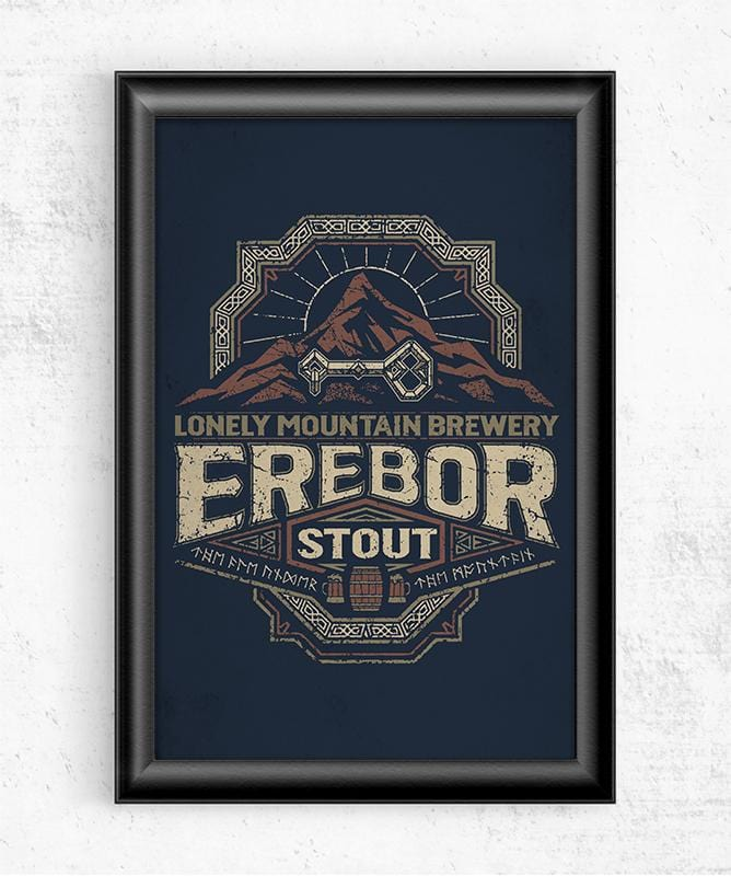 Erebor Stout Posters by Cory Freeman Design - Pixel Empire