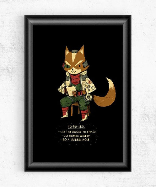 Fox To Do Posters by Louis Roskosch - Pixel Empire