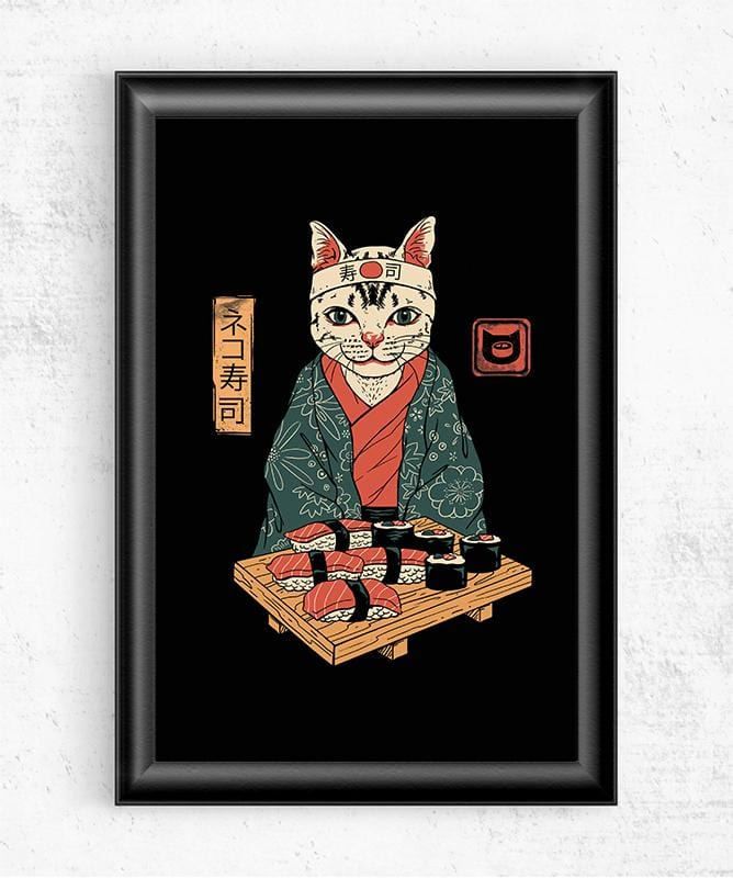 Neko Sushi Bar Posters by Vincent Trinidad - Pixel Empire