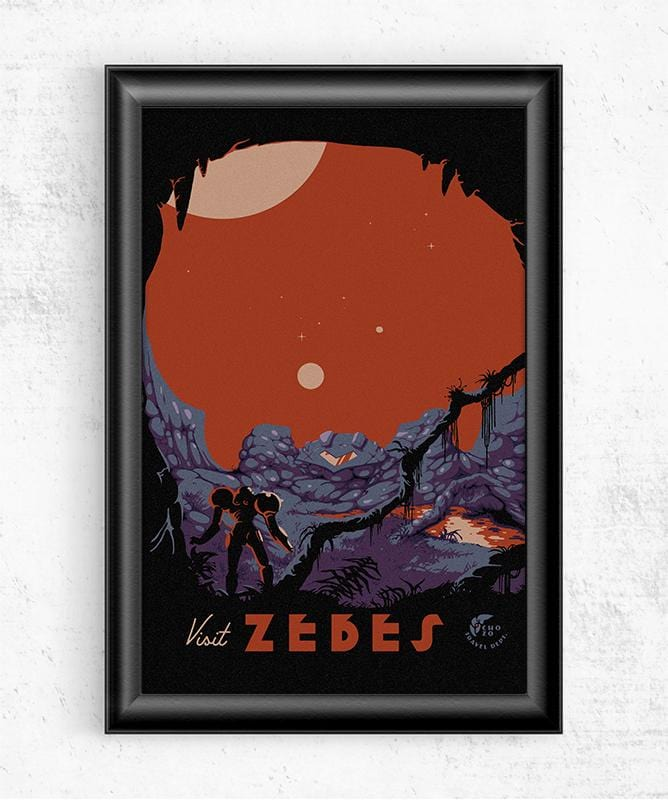 Visit Zebes Posters by Mathiole - Pixel Empire