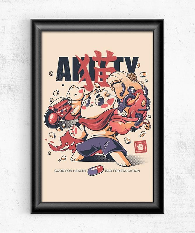 Akitty Posters by Ilustrata - Pixel Empire