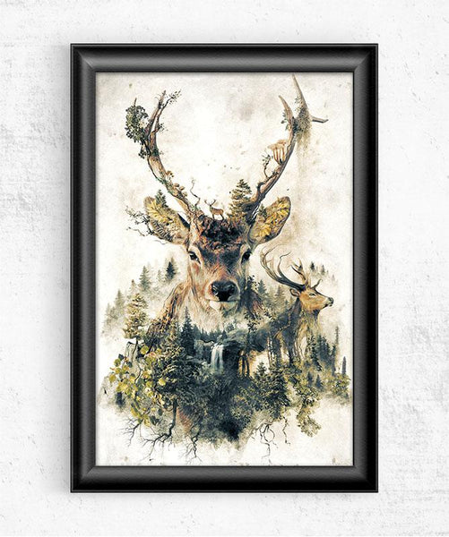 Surreal Deer Posters by Barrett Biggers - Pixel Empire