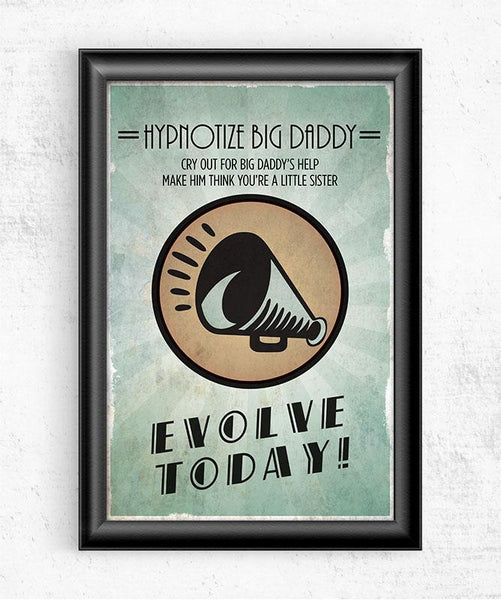 Bioshock Plasmid Hypnotize Big Daddy Posters by Dylan West - Pixel Empire