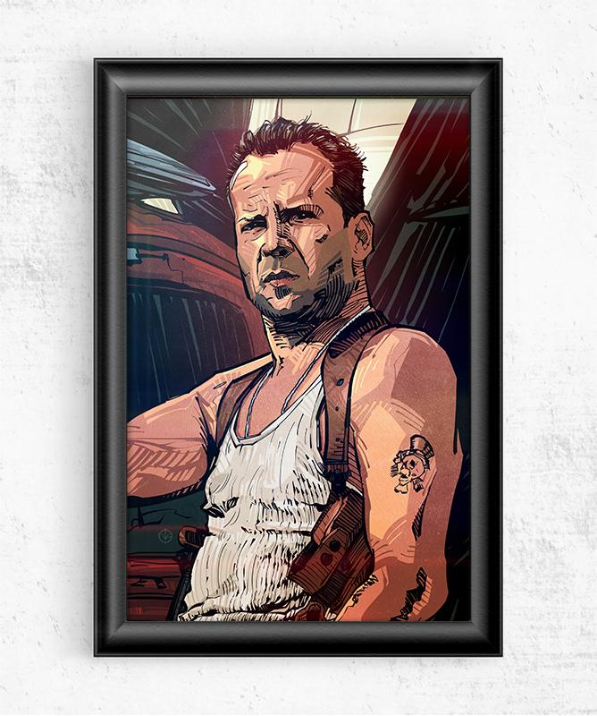 Bruce Willis DIE HARD Posters by Nikita Abakumov - Pixel Empire