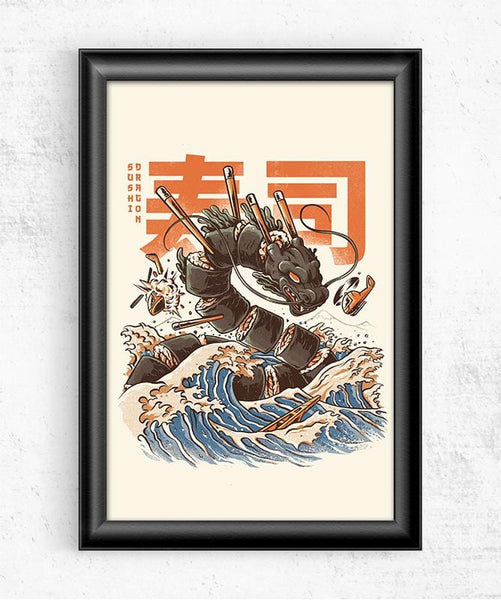 Great Sushi Dragon Posters by Ilustrata - Pixel Empire