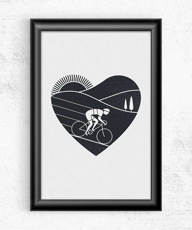 Love Cycling Posters by Rick Crane - Pixel Empire